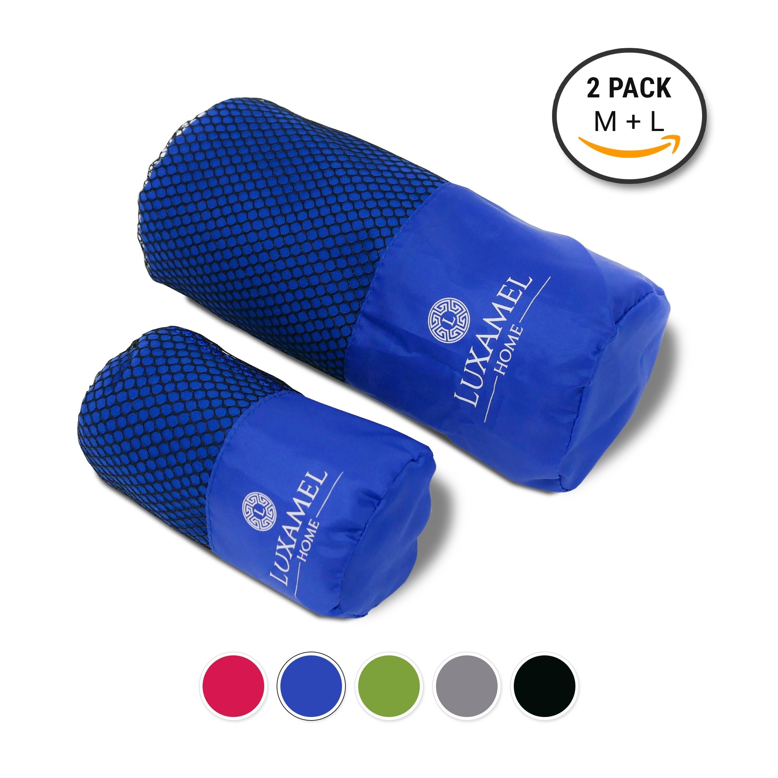 2er set microfaser handtuch blau. Black Bedroom Furniture Sets. Home Design Ideas