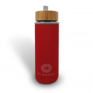 Thermohülle für Luxamel Teeflaschen in 450ml Größe (rot)