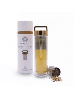 Teeflasche Gold inklusive Teezubereiter 380ml