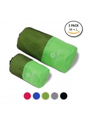 Microfaser Handtuch 2er Set grün