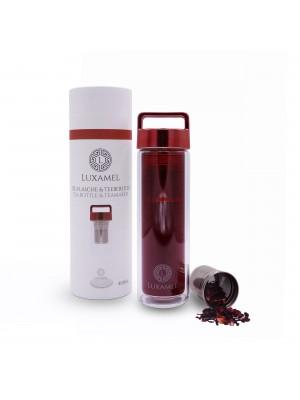 Teeflasche rot inklusive Teezubereiter 380ml