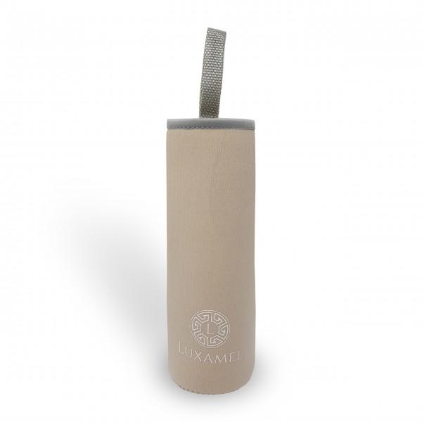Thermohülle, beige für Teeflasche 450ml