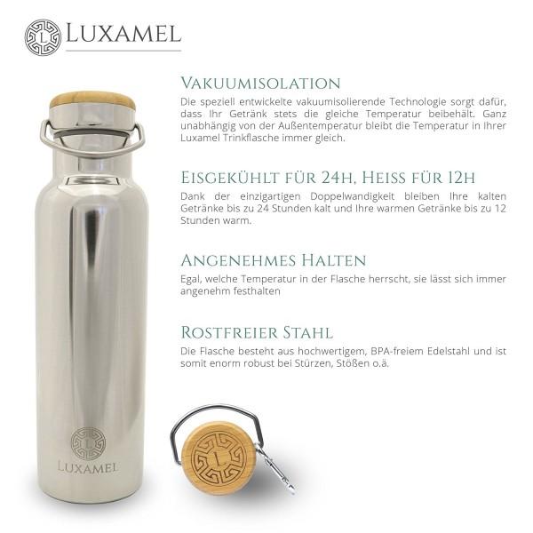Edelstahl-Sportflasche doppelwandig Luxamel Vorteile 2