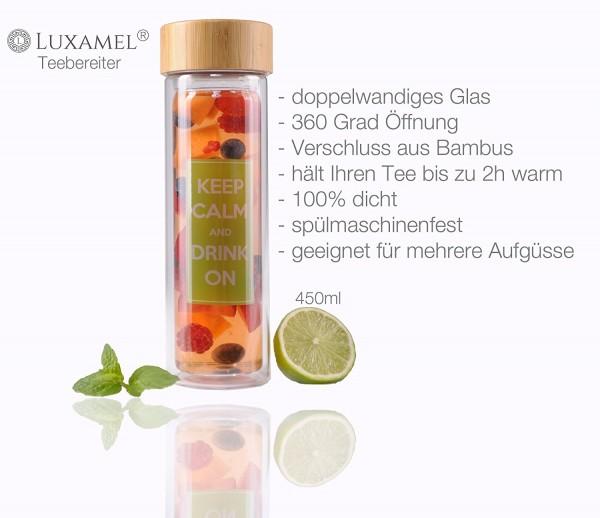 Teeflasche doppelwandig 400ml Luxamel Serviervorschlag 2