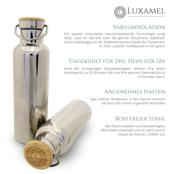 Edelstahl-Sportflasche doppelwandig Luxamel Vorteile 1