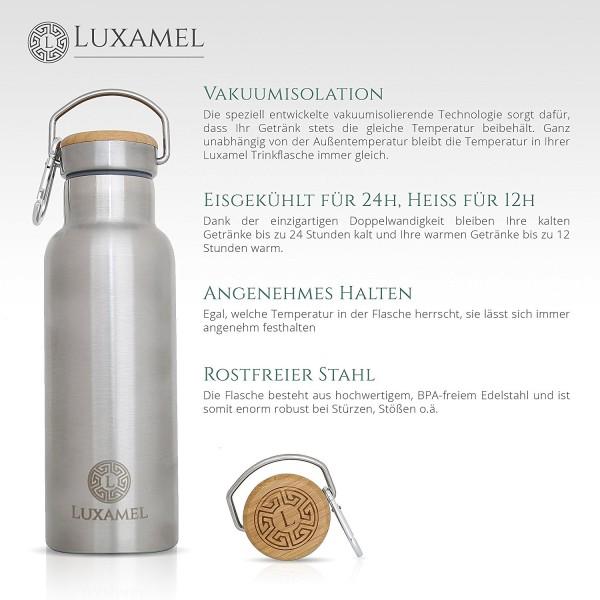 Edelstahl-Sportflasche doppelwandig gebürstet Vorteile 1