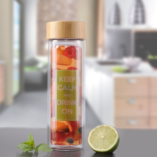 Teeflasche doppelwandig 400ml Luxamel Serviervorschlag