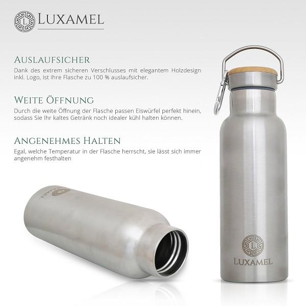 Edelstahl-Sportflasche doppelwandig gebürstet Vorteile 2