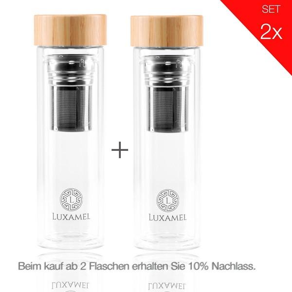 Teeflasche doppelwandig 400ml Luxamel Vorteilspack