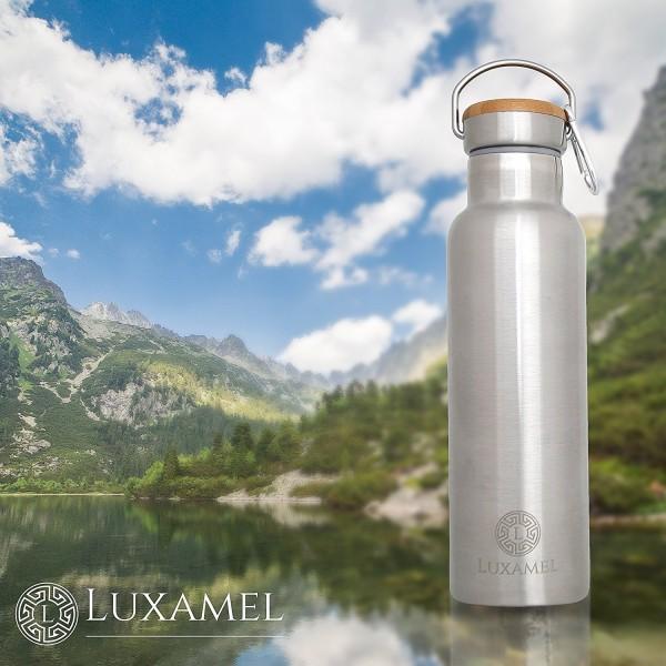 Edelstahl-Sportflasche doppelwandig Wanderungen