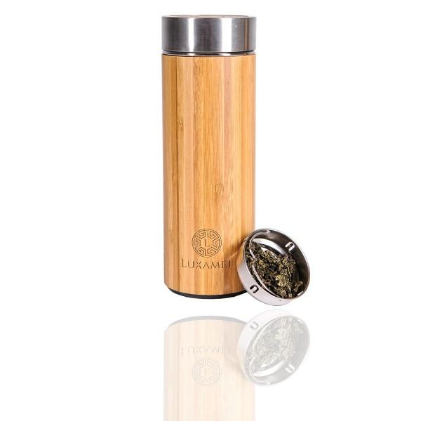 Luxamel Teeflasche im Bambusmantel