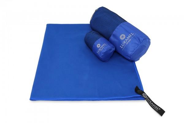 Microfaser Handtuch 90x180 blau inkl. Tasche
