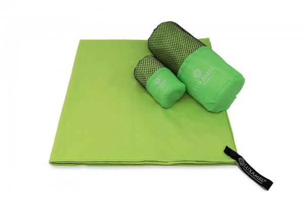 Microfaser Handtuch 90x180 grüninkl. Tasche