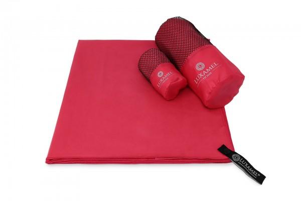 Microfaser Handtuch 70x140 magenta inkl. Tasche