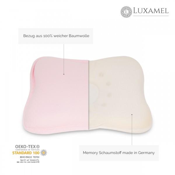 Babykissen pink mit Memory Schaum