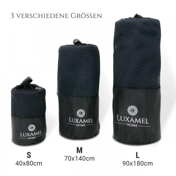 Microfaser Handtuch schwarz verschiedene Größen