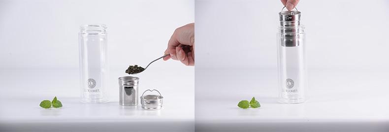 Teezubereitung Schritt 2: Teeaufbereiter einsetzen